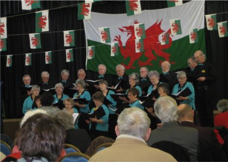 Friends in Harmony sing in the City Hall, St Davids
